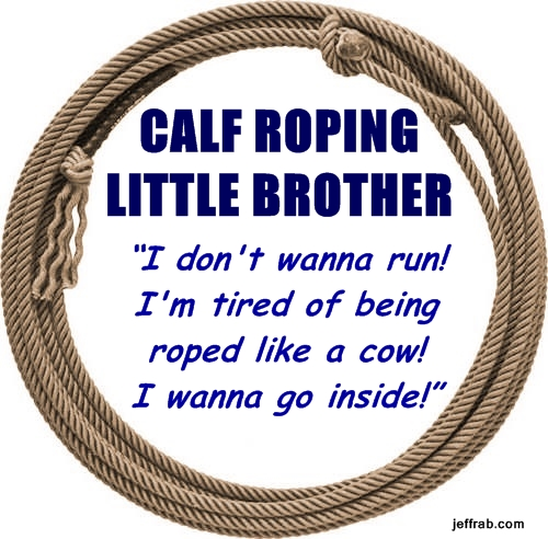 Calf Roping Little Brother